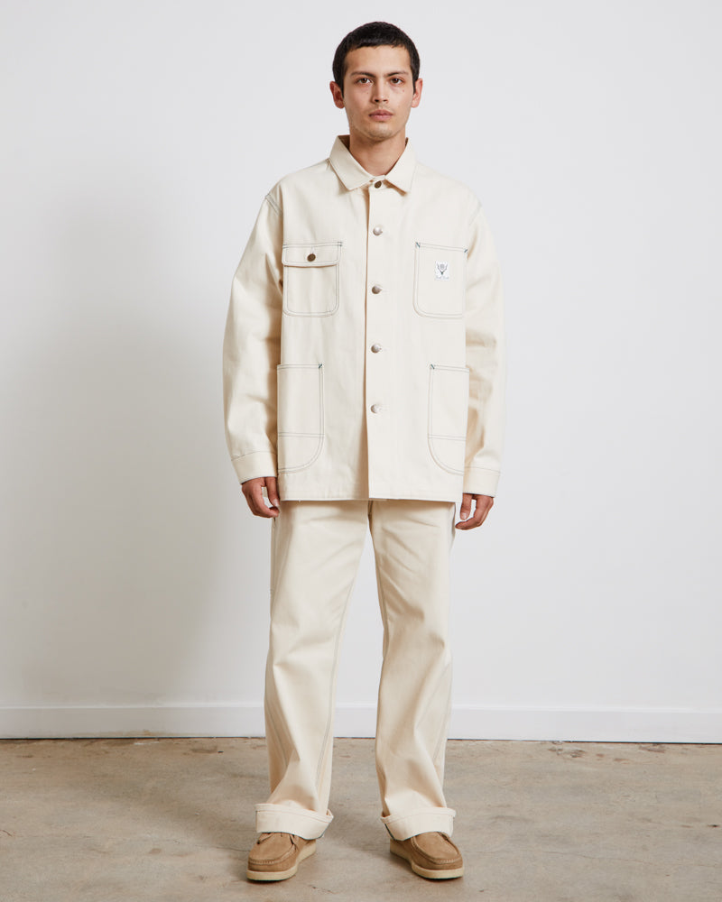 Coverall Jacket in Off White