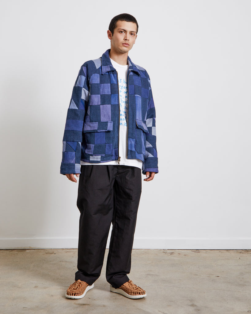 Work Jacket in French Workwear/Sashiko