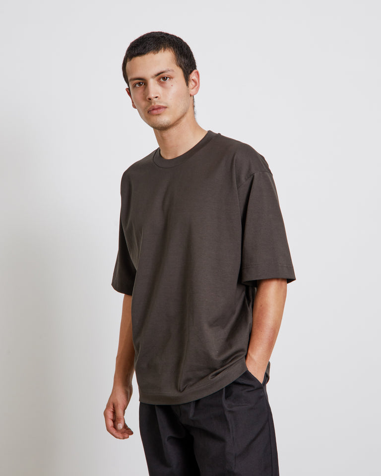 Yoke Seam T-Shirt in Charcoal