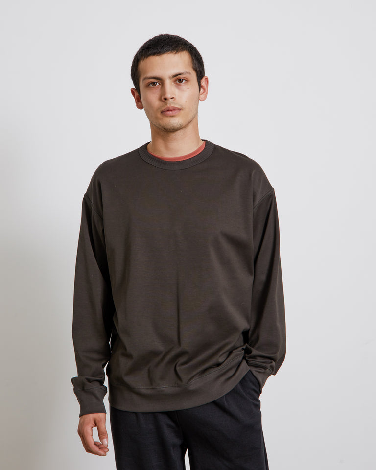 Lightweight Sweatshirt in Charcoal