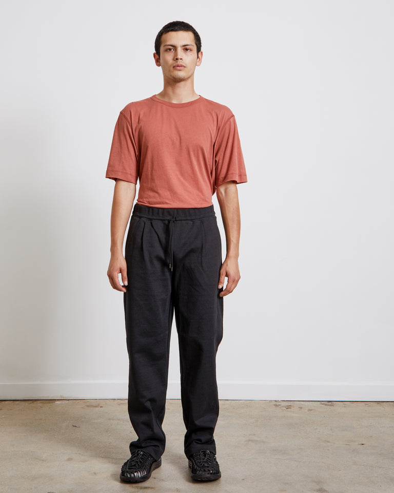Relaxed Jersey Pants in Black