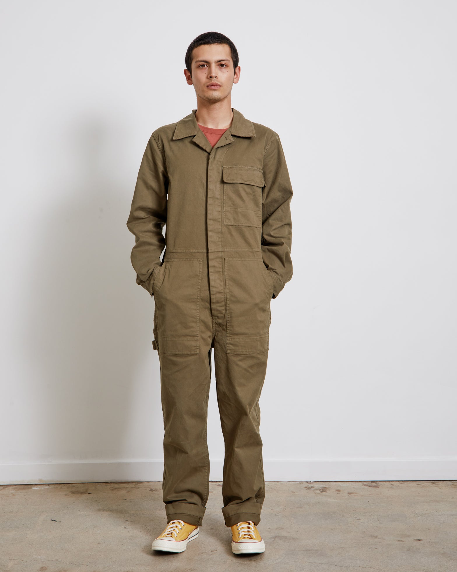 Field Jumpsuit in Military Green