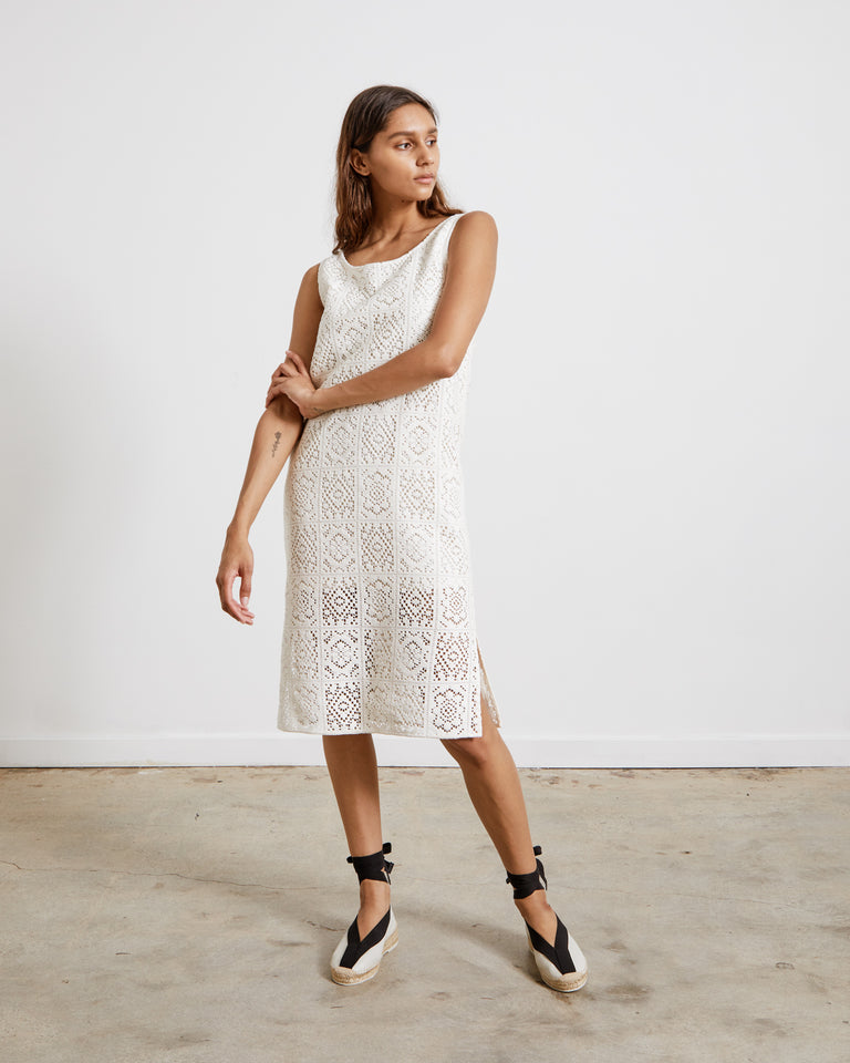 Crochet Dress in Ivory