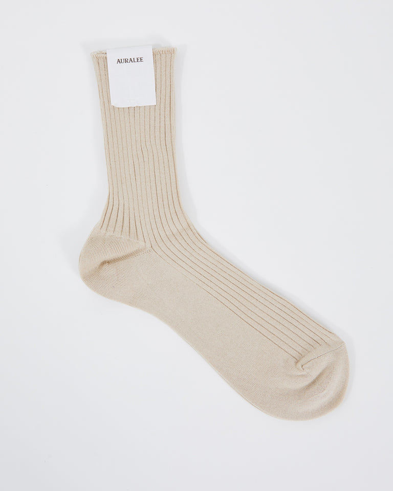 Giza High Gage Sox in Beige