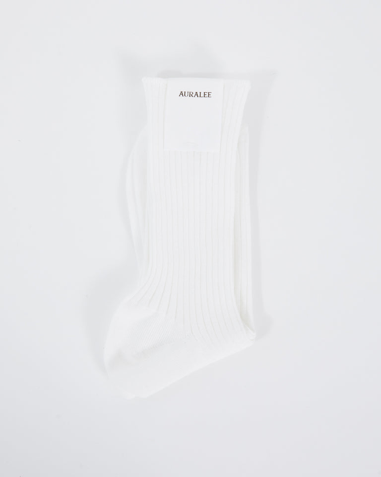 Giza High Gage Sox in White