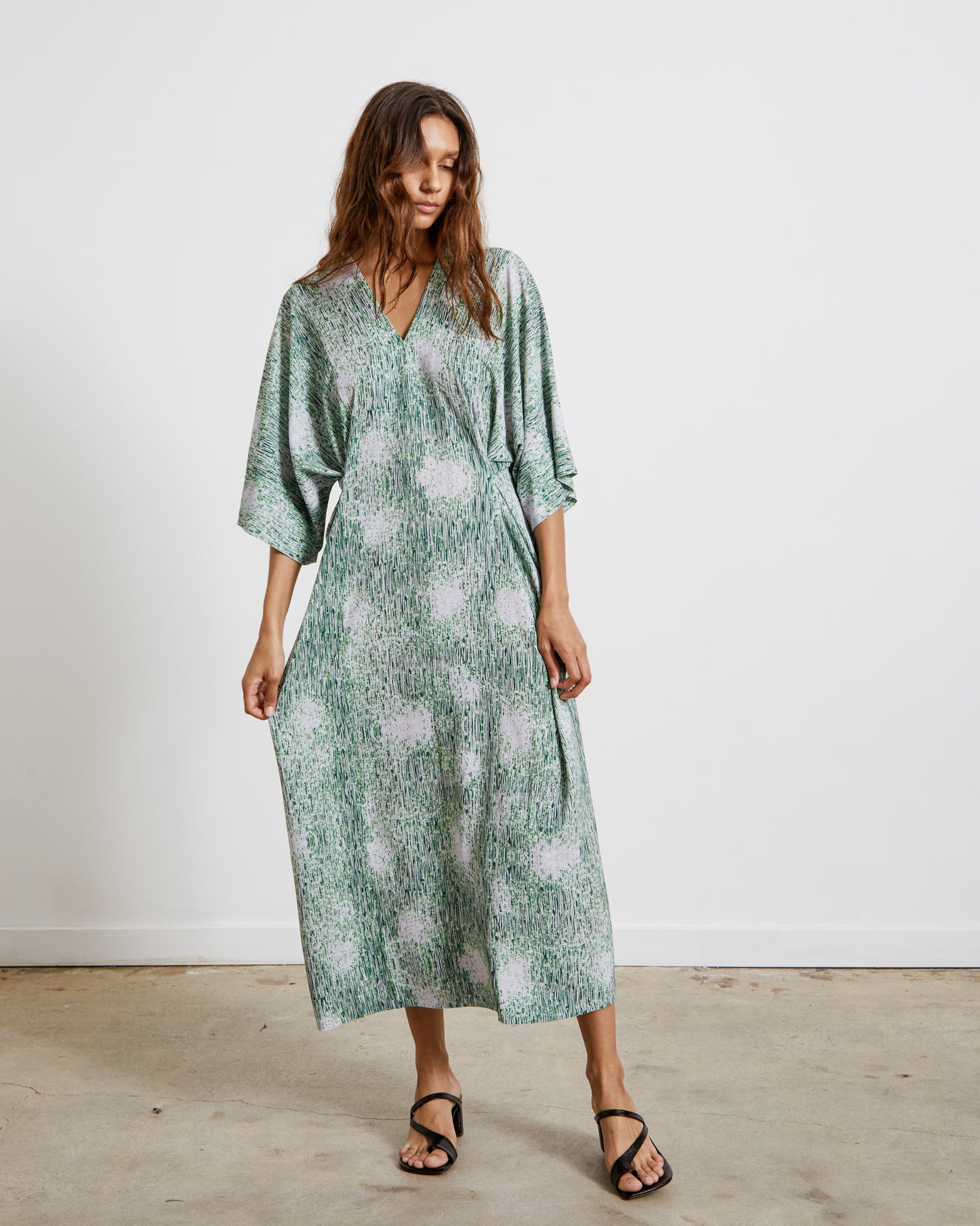 Jelly Dress in Melted Green