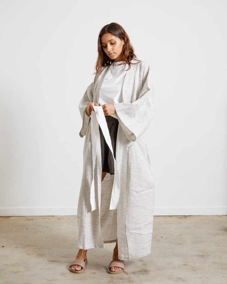 The 02 Robe in Pinstripe