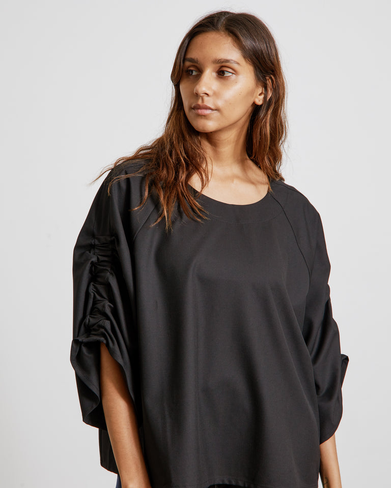 Burning Love Blouse in Black