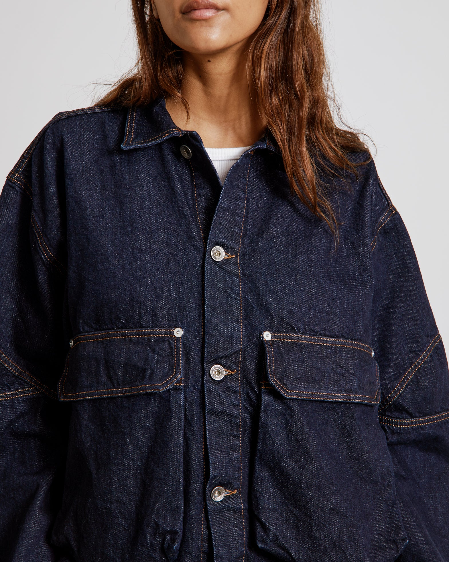 Match Box Jacket in Indigo