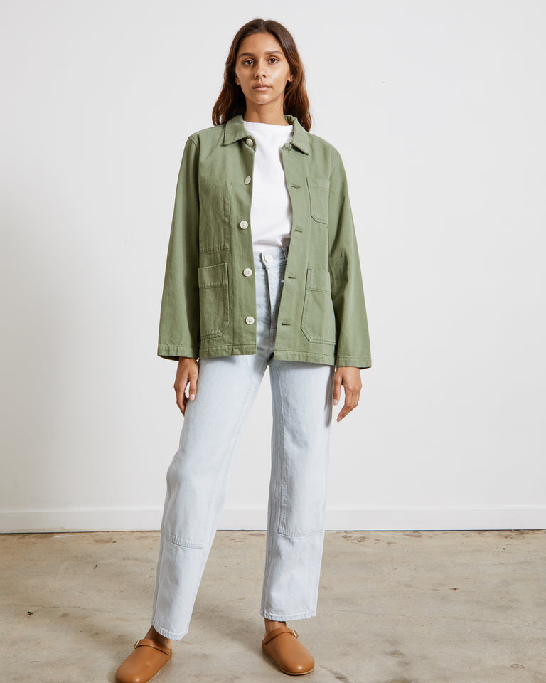 Britt Work Jacket in Sage
