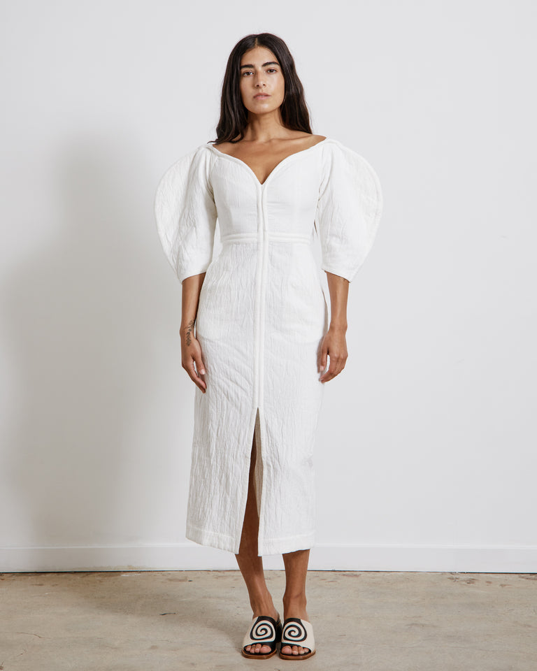 Leonara Dress in White