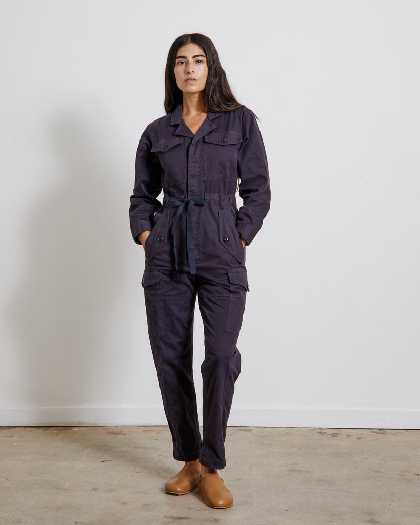 Cargo Jumpsuit in Dark Navy
