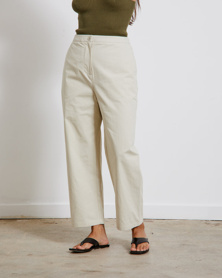 Square Pocket Pants in Sage Green