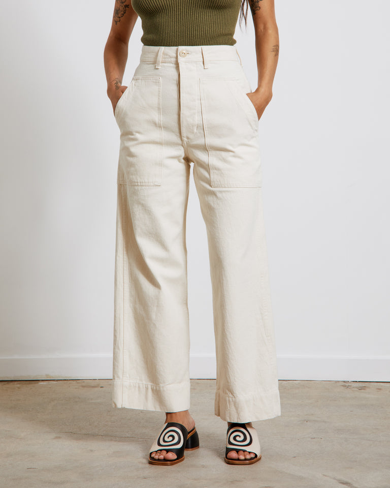 Sailor Fatigue Denim Trouser in Natural