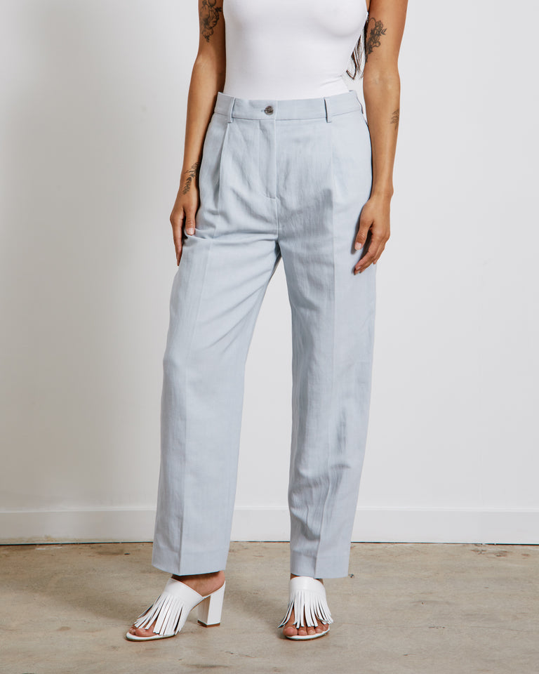 Linen Trouser in Ice Blue
