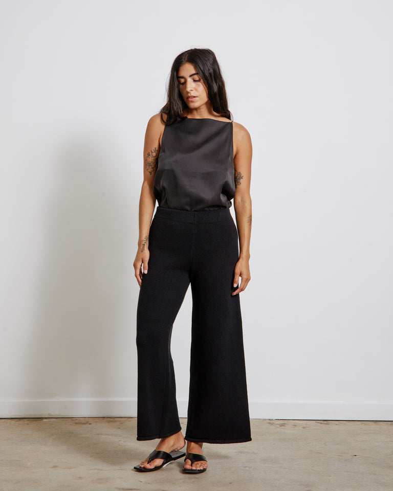 Rem Knit Lounge Pants in Black