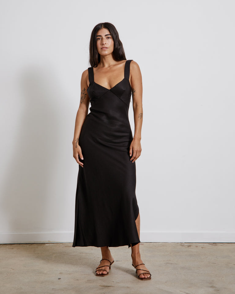 Zoe Slip Dress in Black