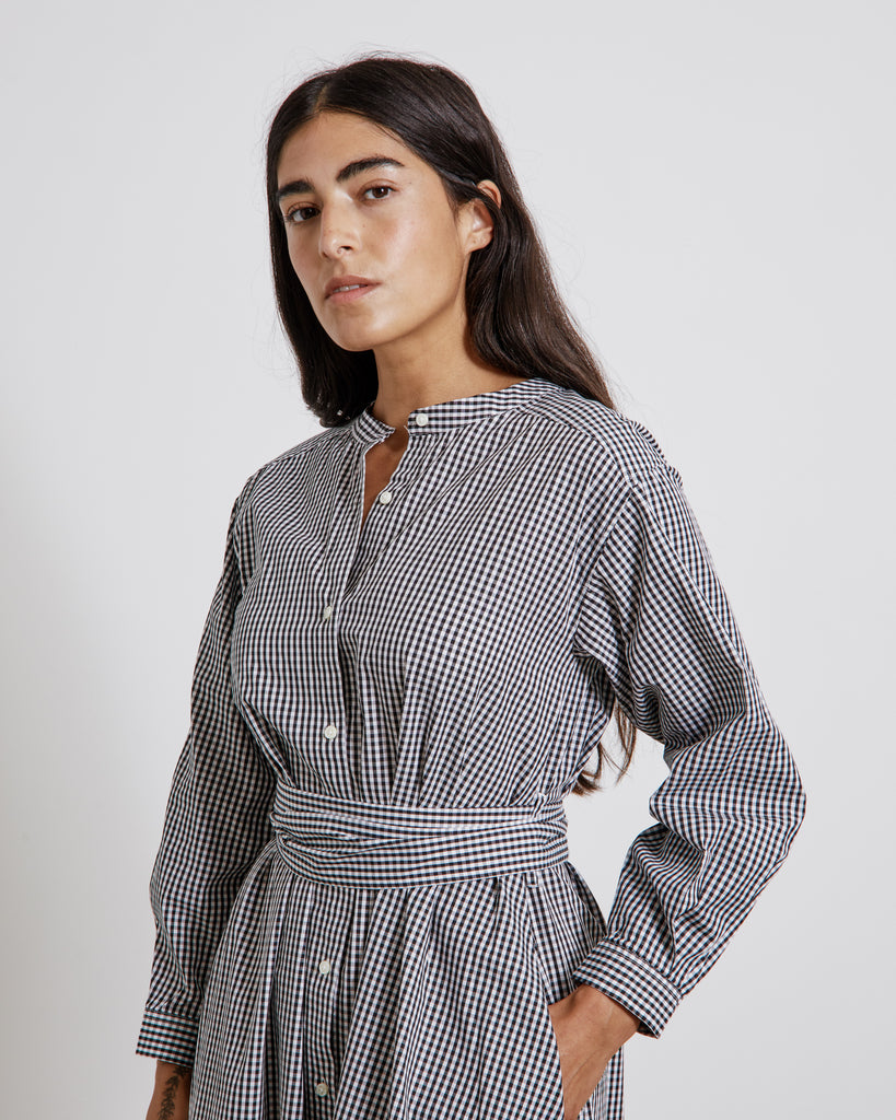 Gracie Shirt Dress in Black/White
