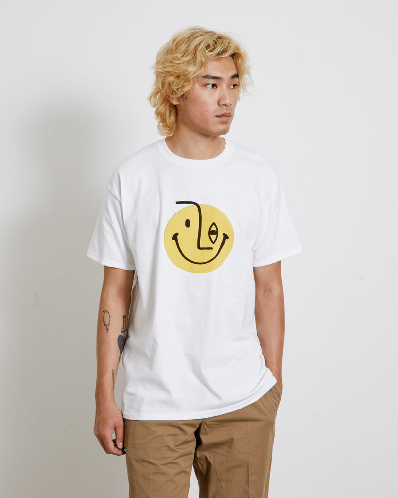 Picasso Smile Print Tee in White
