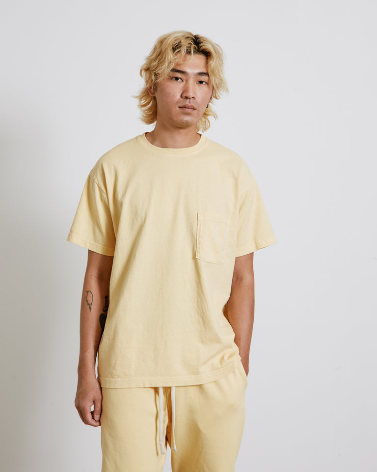 Big Pocket Tee in Lemon Twist