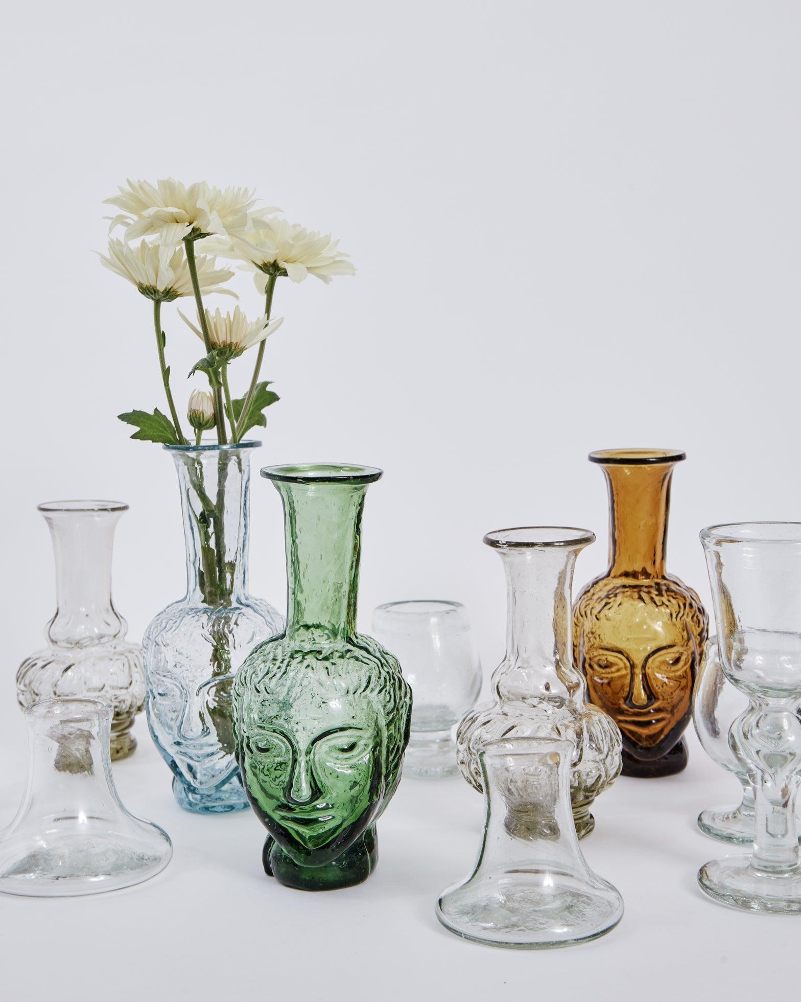 Vase Tete in Transparent