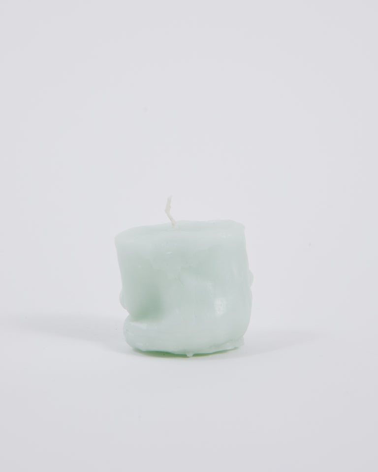 Short Candle in Light Blue