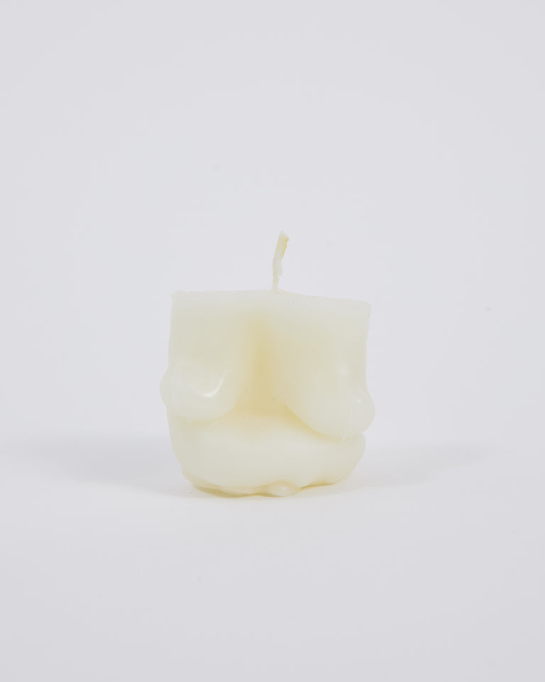 Short Candle in White