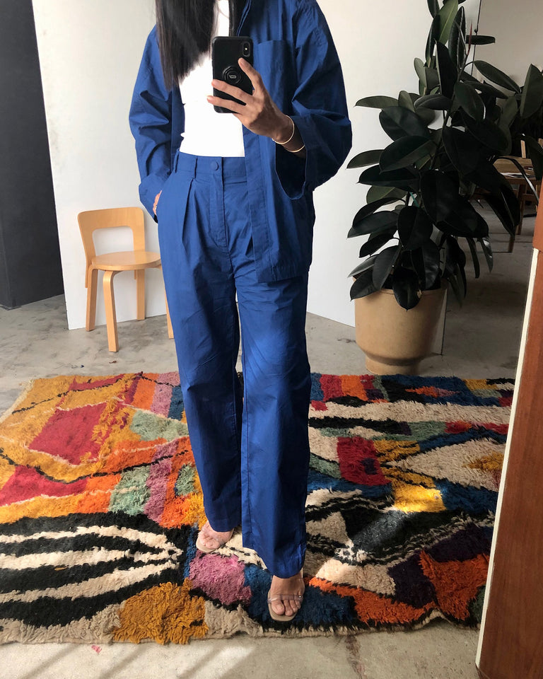 Tulia Pant in Workwear Blue