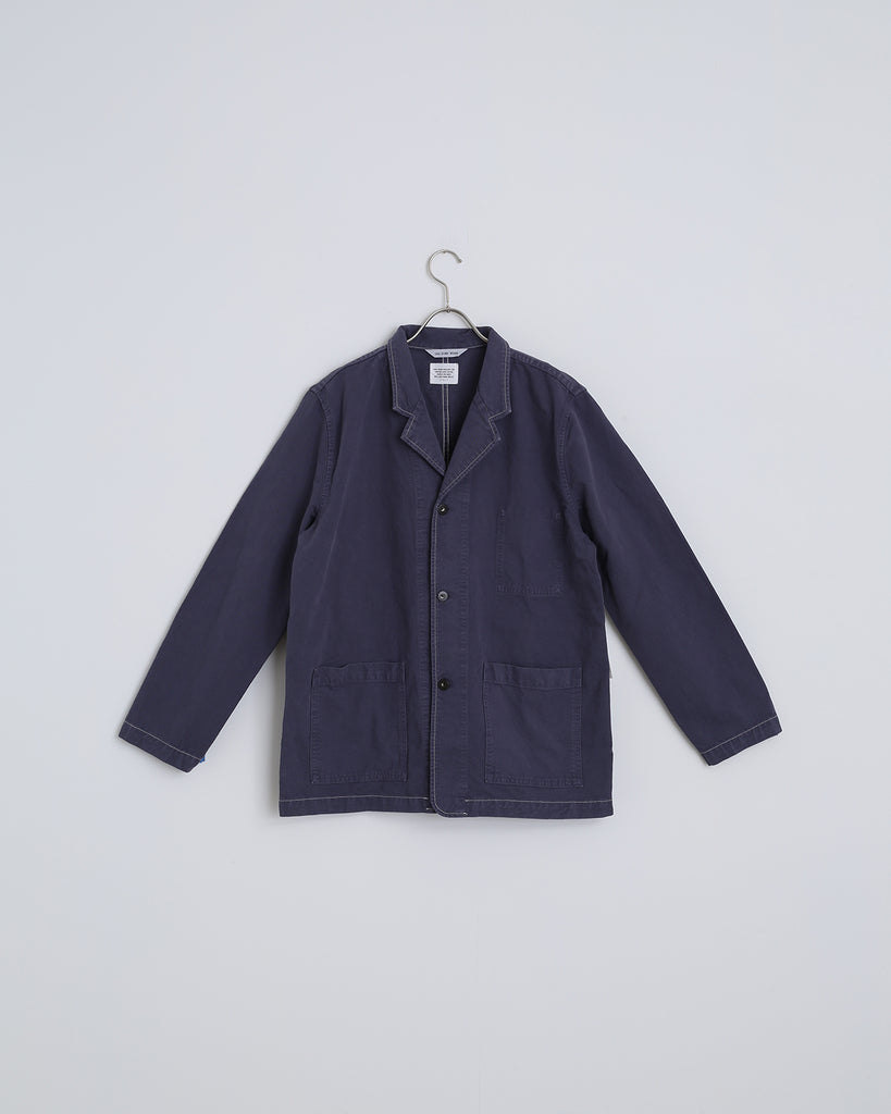 Drill Shop Coat in Marine