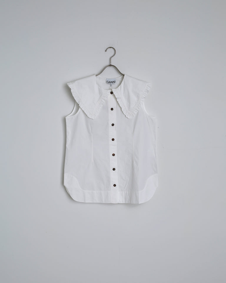 Cotton Poplin Shirt in Bright White