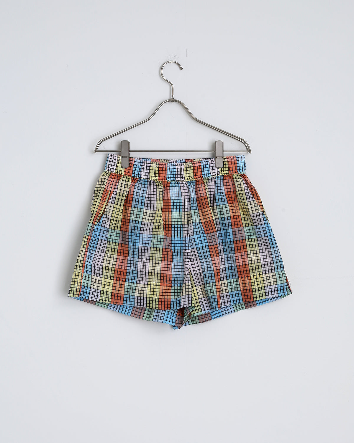 Seersucker Check Shorts in Multicolor