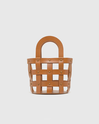 Woven Basket in Chestnut