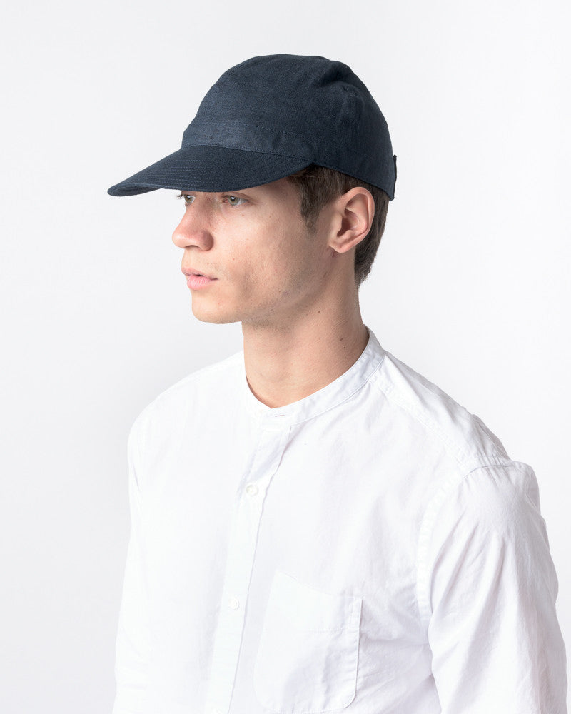 Linen Scout Cap in Navy by SMOCK Man at Mohawk General Store - 5
