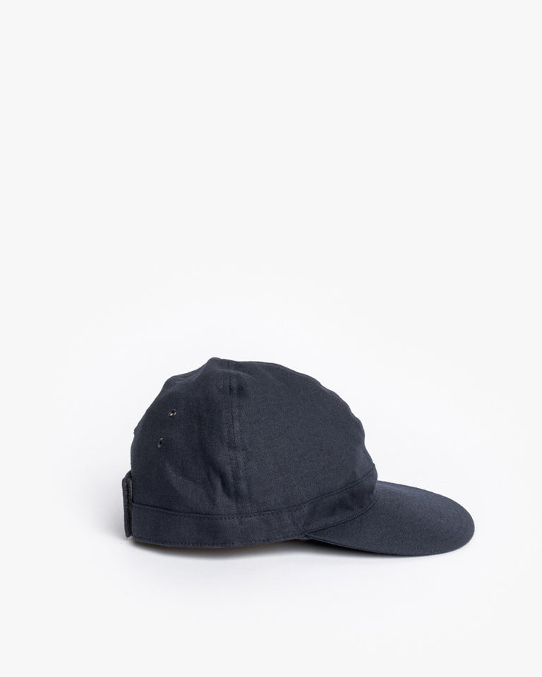 Linen Scout Cap in Navy