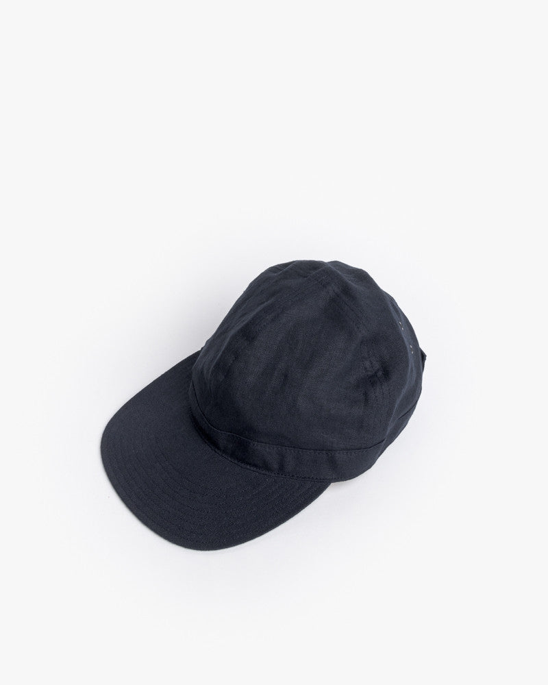 2c3faef0300 Linen Scout Cap in Navy by SMOCK Man at Mohawk General Store - 1