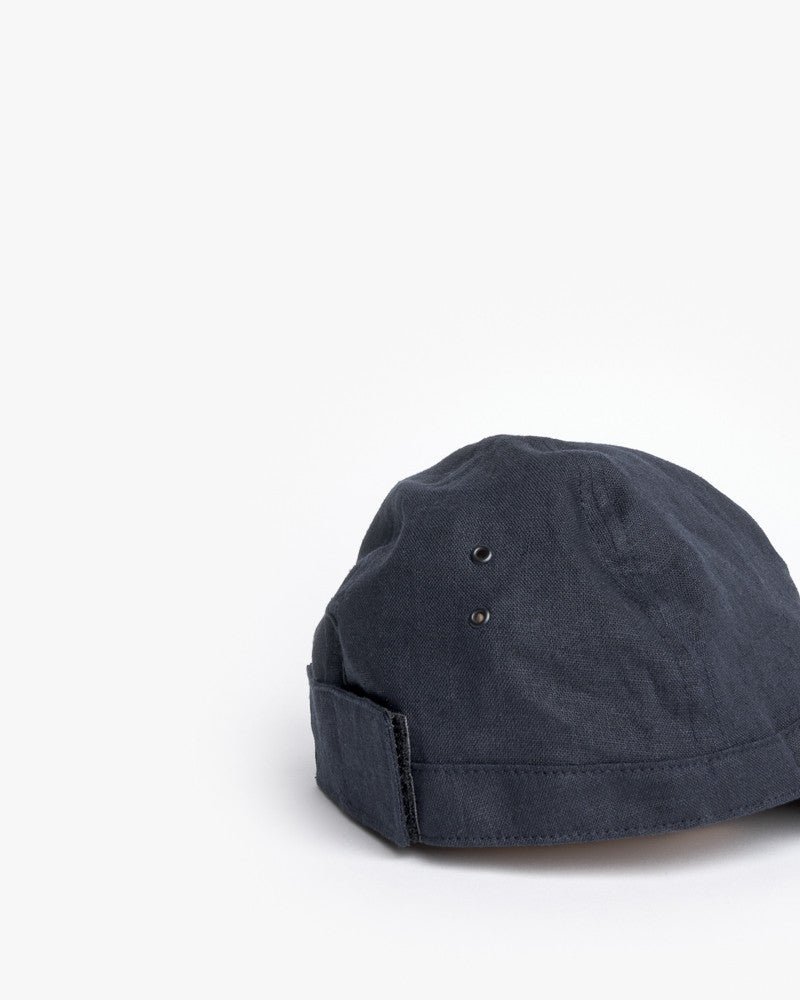 Linen Scout Cap in Navy by SMOCK Man at Mohawk General Store - 4
