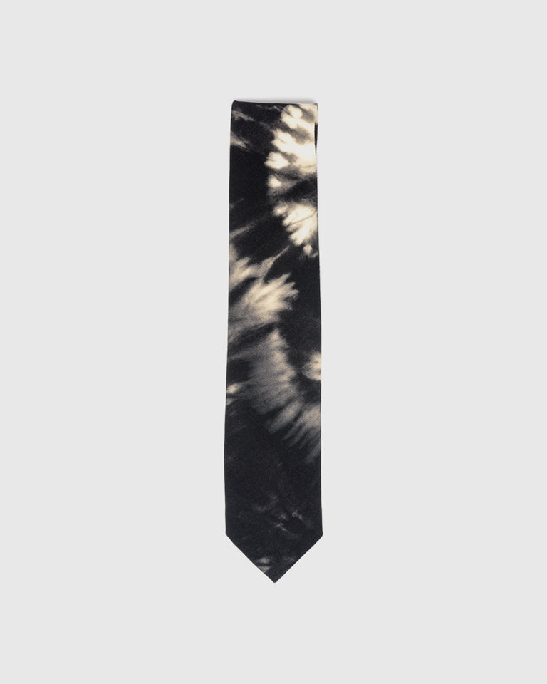 Tie-Dye Tie in Black