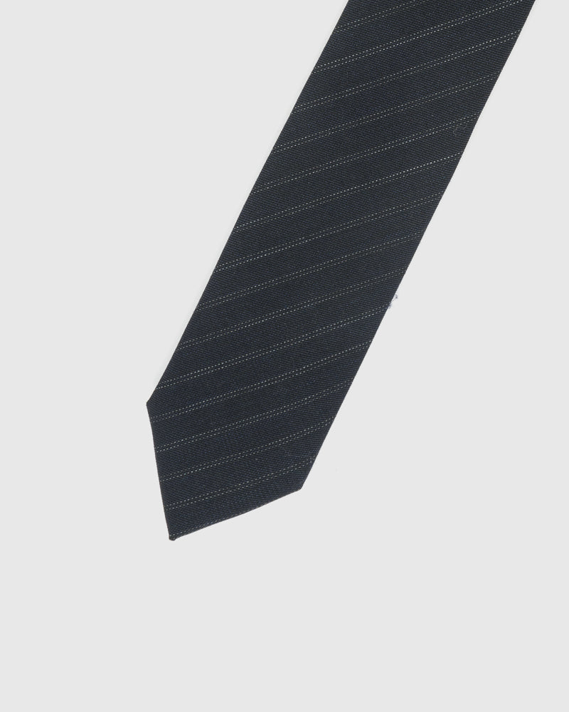 Beaded Stripe Tie in Navy by Dries Van Noten Man at Mohawk General Store