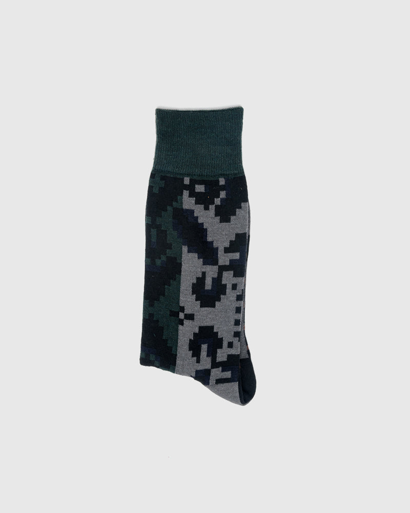 Flora Stripe Socks in Grey Black by Sacai at Mohawk General Store