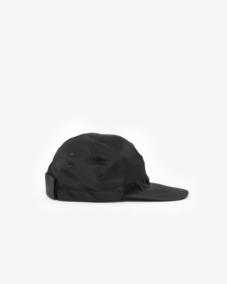 Nylon Scout Cap in Black