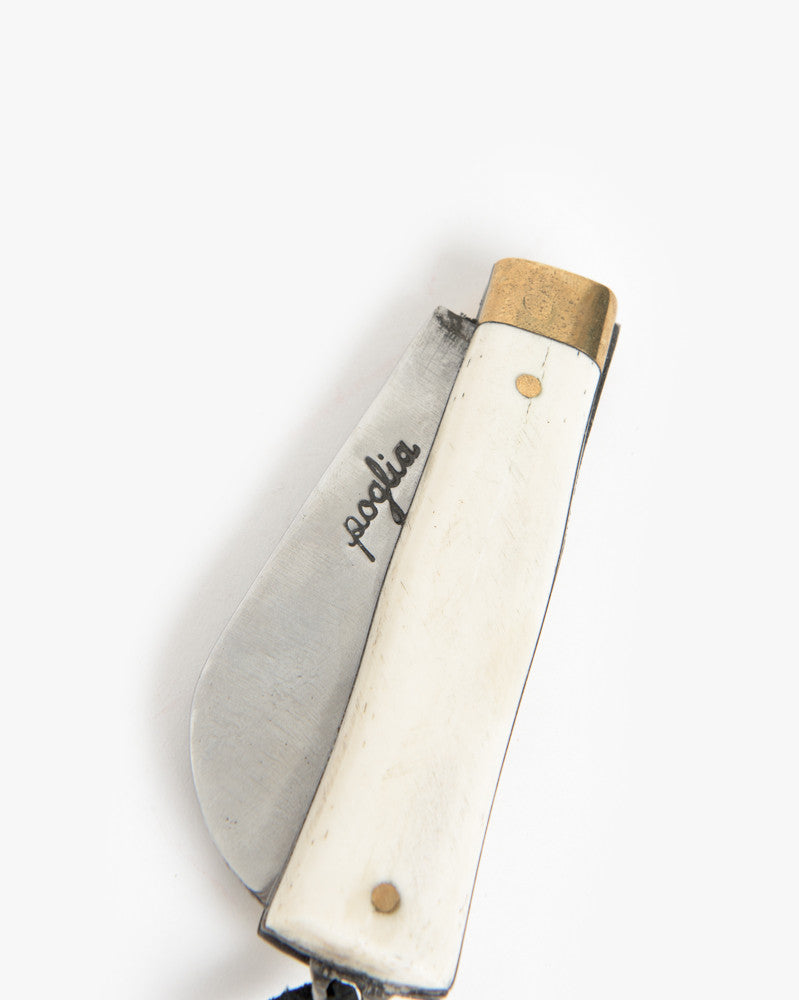 Hand Crafted Pocket Knife in Solid Bone by Poglia&Co at Mohawk General Store - 2