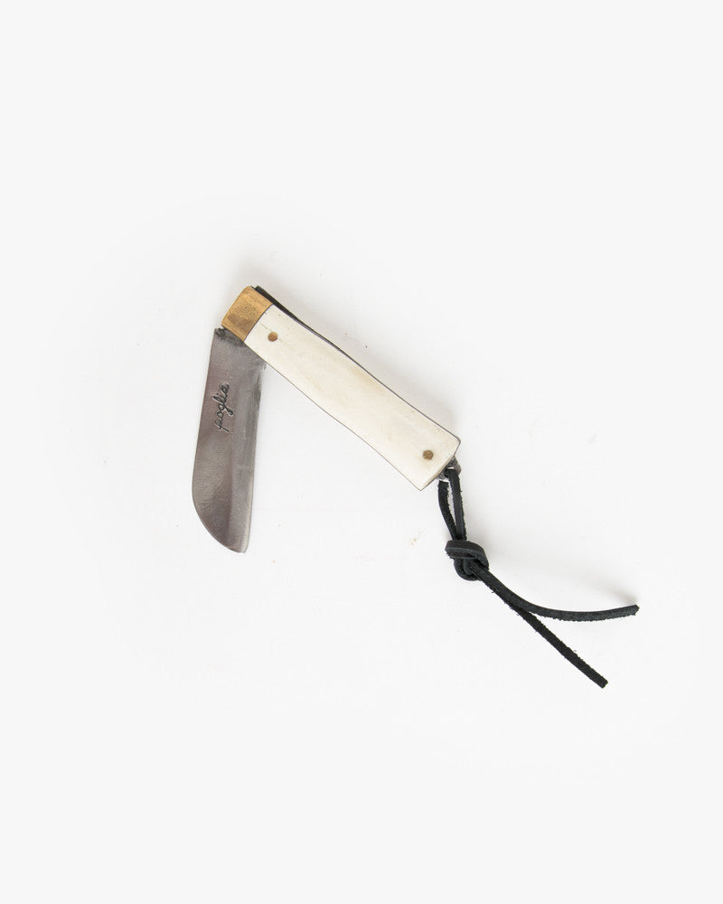 Hand Crafted Pocket Knife in Solid Bone by Poglia&Co at Mohawk General Store