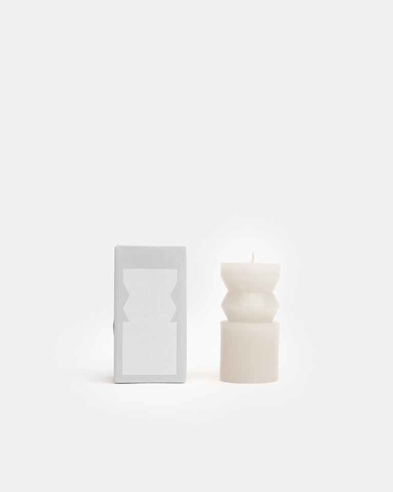 Small Totem Candle in White