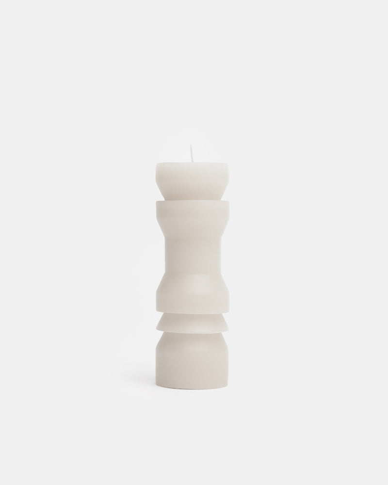 Medium Totem Candle in White