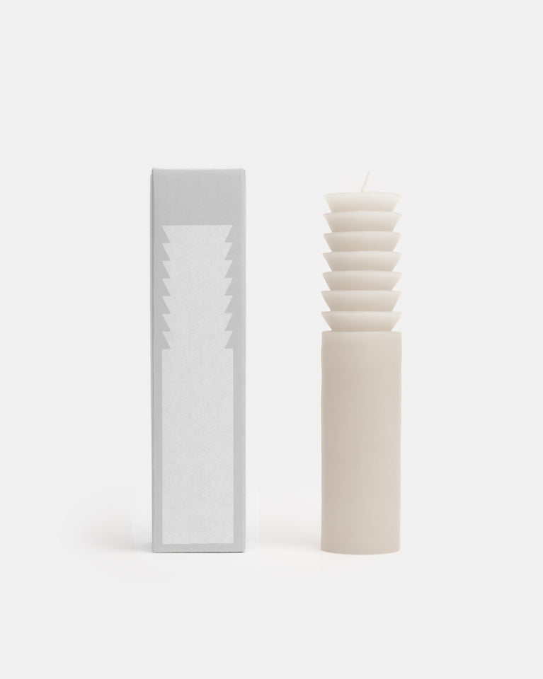 Large Totem Candle in White