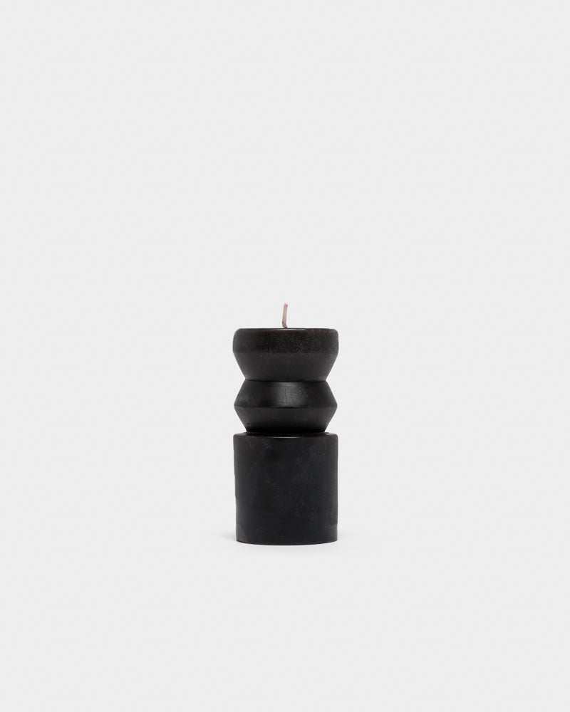 Small Totem Candle in Black