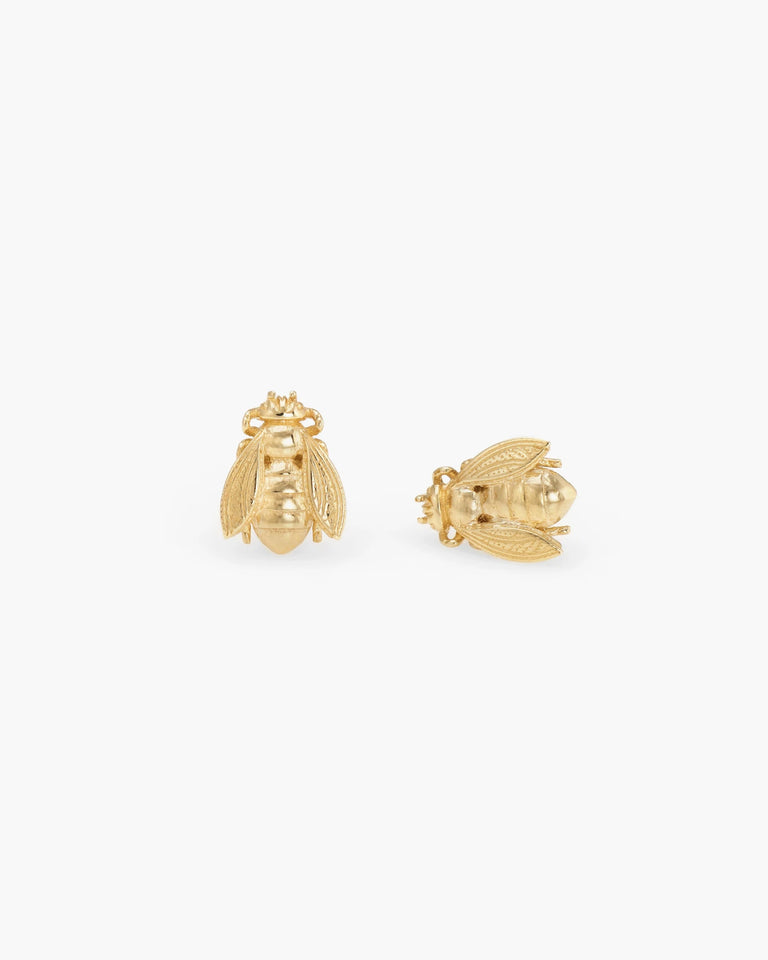 Bee Studs in 14K Gold