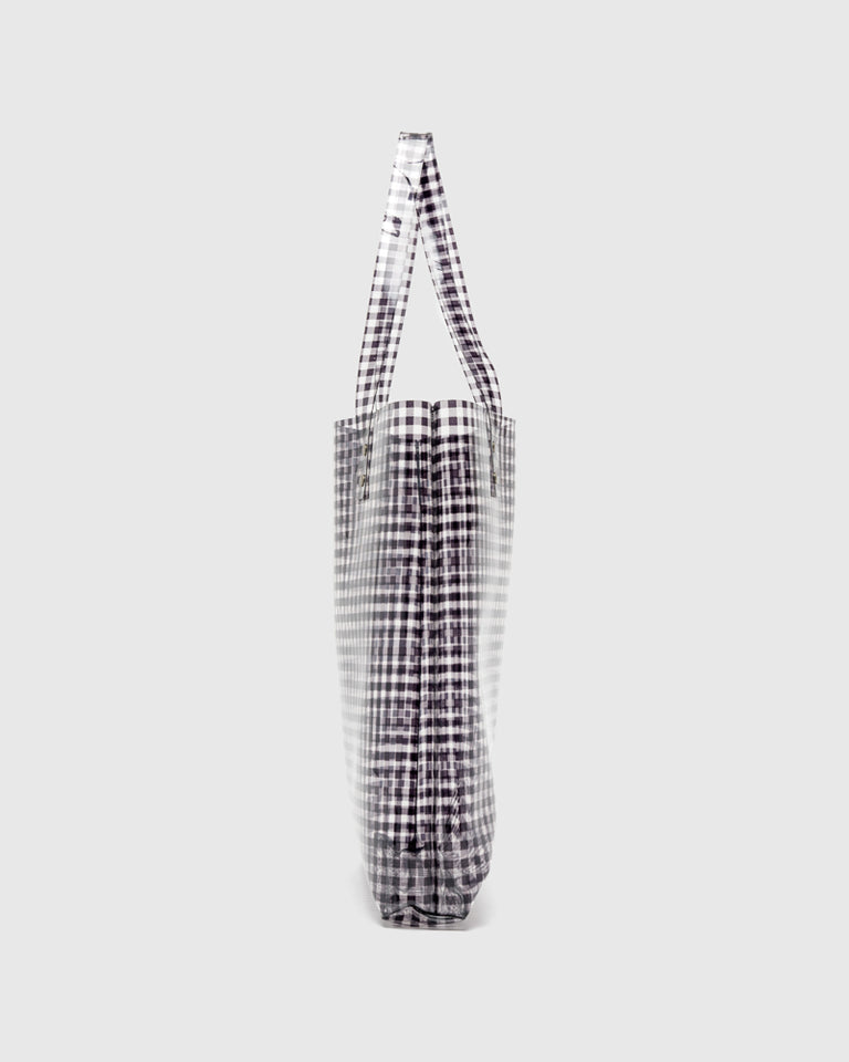 Lucid Tote in Black Gingham