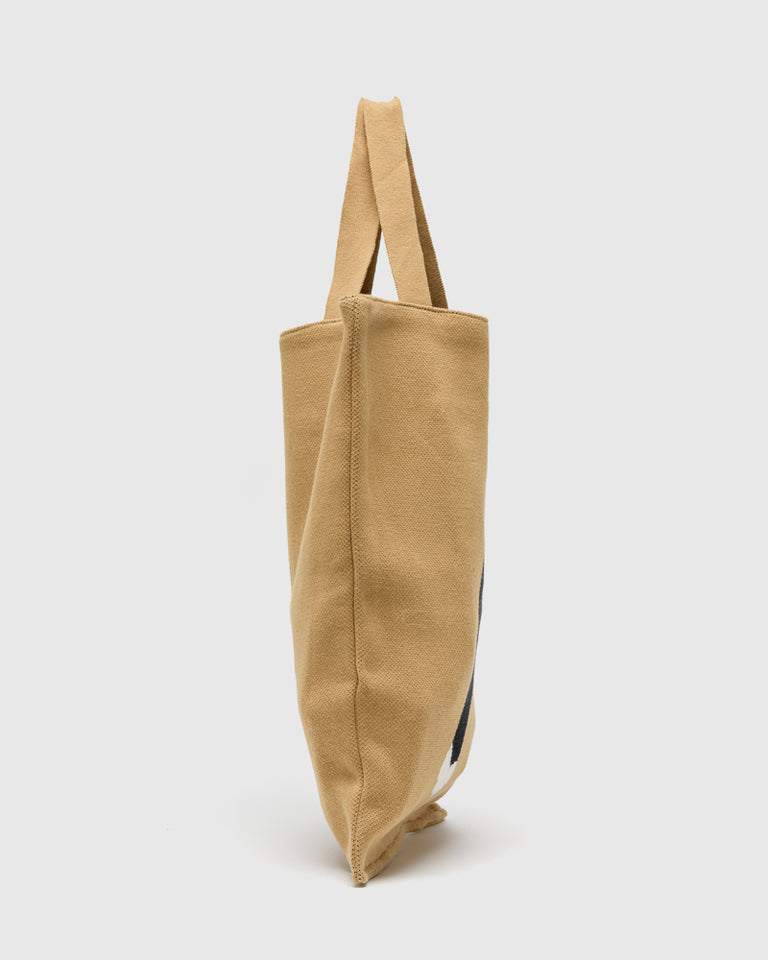 Pounce Tote Bag in Camel
