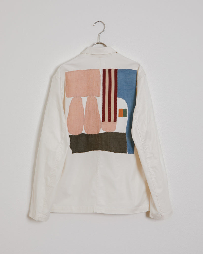 SMOCK x Adam Pogue Hunter Jacket in Cream #2